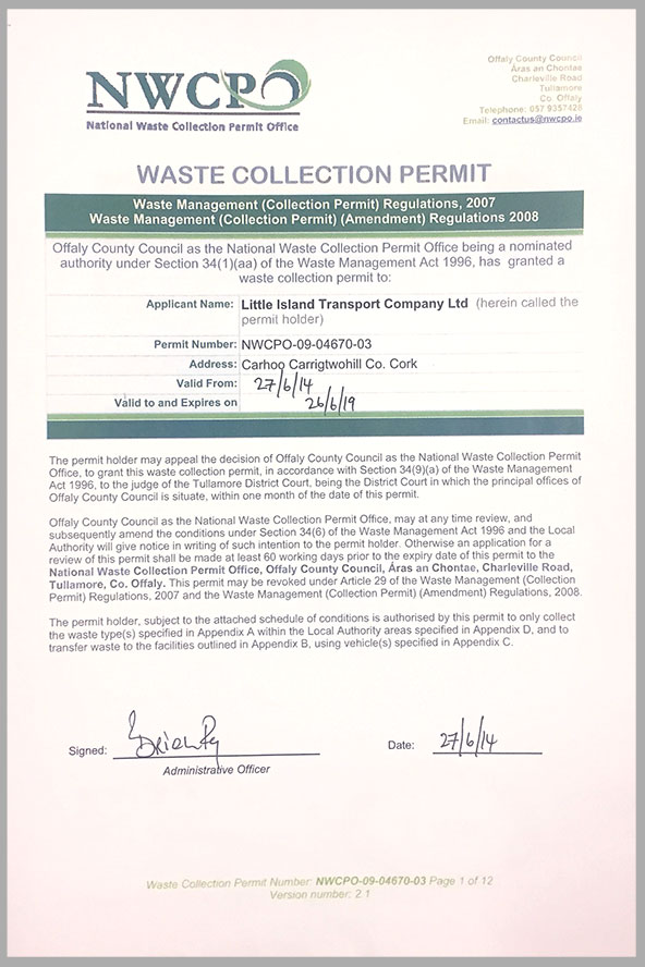 Waste Collection Permit